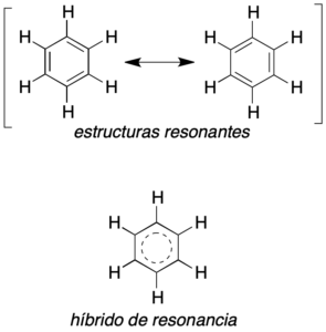 estructuras resonantes benceno hibrido de resonancia