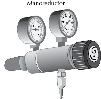 manoreductor y manometro